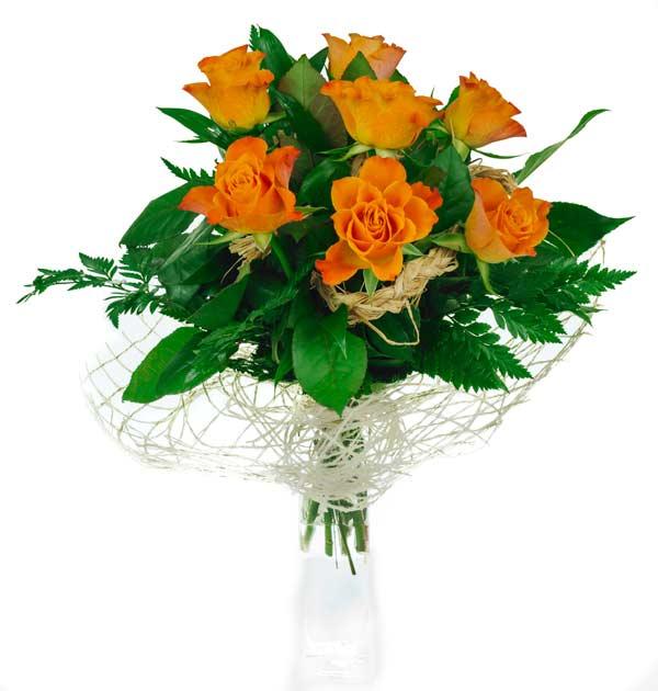 bukiet pomarańczowy z róż