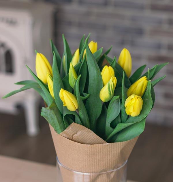bukiet tulipany zolte